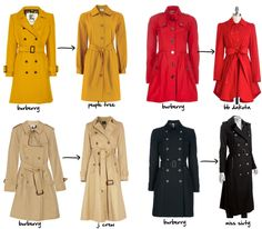 Burberry trench coats -- and the look for less!