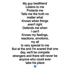 My guy best friend found this and I love it, describes him perfectly. :)