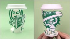 Illustrator Turns Starbucks Cups Into Unique Works Of Art
