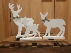 Deko-Objekte - Hirschfamilie 3-Teilig - ein Designerstück von Creative-Holz bei DaWanda