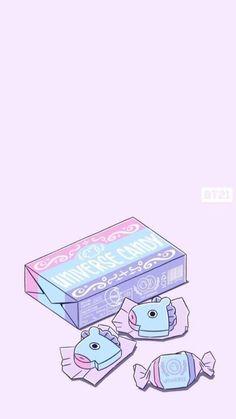 Wallpapers Kawaii, Cute Cartoon Wallpapers, Animes Wallpapers, Pretty Wallpapers, Cute Wallpaper Backgrounds, Wallpaper Iphone Cute, Aesthetic Iphone Wallpaper, Bts Wallpaper, Cute Pastel Wallpaper