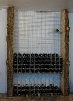 Wine Rack. Use this method to do inside that Ikea oven cabinet we have to turn it into a wine rack.