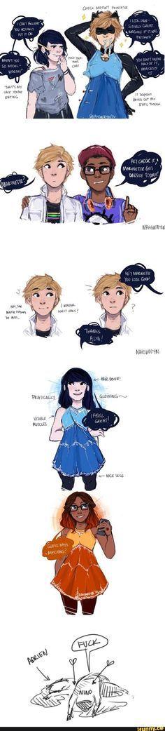Como te enamoras de rápido Adrien. Y tu también Nino.