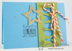 A fun masculine birthday card!  Star Framelits, Really Good Greetings, Little Letters Thinlits, Joanne James Stampin' Up! UK Independent Demonstrator, blog.thecraftyowl.co.uk