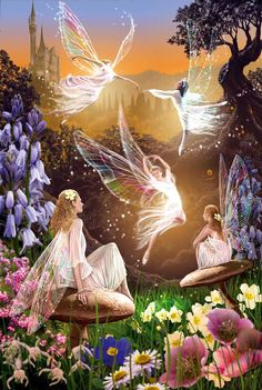 s Fairy Nymphs ≍ magical elves, sprites, pixies and winged woodland faeries - Fairy Ballet by Garry Walton Fairy Dust, Fairy Land, Fairy Tales, Magic Fairy, Magic Forest, Magical Creatures, Fantasy Creatures, Fantasy Kunst, Fantasy Art