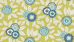 Eden (110679) - Harlequin Wallpapers - A traditional crewelwork floral design, which has been given a contemporary feel by using vibrant colours. Shown here in indigo and lime. Other colourways are available. Please request a sample for a true colour match. Paste-the-wall product.