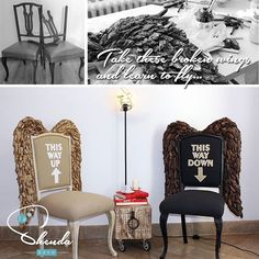 Finding beauty in broken imperfection! Encontrando belleza en imperfección! Handmade accent pieces by #lashendadeco #accentpiece #accentchair #angel #angelwings #design #interiordesign #interiordesigner #recycledfurniture #preloved #wings #upcyclinginteriors #mueblesbcn #casasconencanto #decoracioninteriores #diseño #bcn #blackandwhite #inspire #worldofartists #signiturepiece #driftwood #furnitureart #eclecticinteriors #art #oneofakind