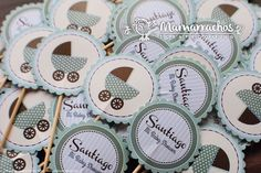 Toppers Baby Shower - Carriola Verde