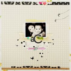 Pretty layout by Tara Anderson over on the Crate Paper blog… I love me some black and white with pops of color!