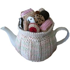 ❄Crochet Tea Cosies, Mug Hug Snugs and Cuppa Cosies.    TC179 – Biscuit Selection 3 –   Tea and sweets!