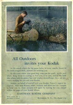 Vintage Kodak Ad - 1910