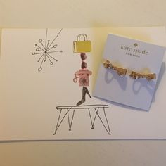 5⭐️ Kate Spade Gold Bow Earrings ✨Kate Spade Gold Bow Earrings✨ Comes with dust bag and box. Price is Firm. Bundle and Save 10% Off 2 items 15% Off 3+ items kate spade Jewelry Earrings