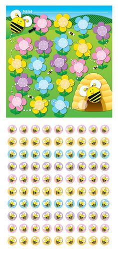 Amazon.com : Carson Dellosa Bee Mini Incentive Charts (148005) : Classroom Pocket Charts : Office Products