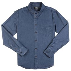 CHEMISE/ SHIRT APC BUTTON DOWN INDIGO
