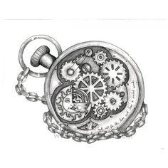 Steampunk Design Ideas | Pocket Watch | Tattoo Ideas