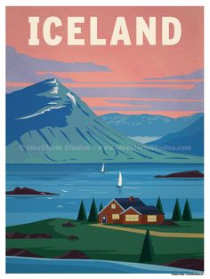 """Iceland Poster by IdeaStorm Studios ©2016. Available exclusively at <a href=""""http://ideastorm.bigcartel.com"""" rel=""""nofollow"""" target=""""_blank"""">ideastorm.bigcart...</a>"""