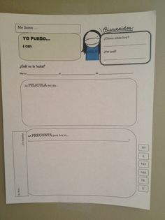 Something already in Spanish, thank goodness! Planning on changing it a bit for a 1st grade graphic organizer.