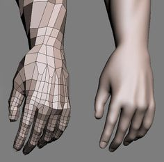 modelling, texturing, rendering, animation tutorial: Hand topology