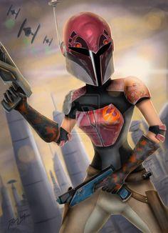 star wars rebels sabine | Sabine (with helmet) - Star Wars Rebels by OBLIVIONHUNTER1