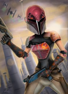 The name is Sabine Wren. I am a sixteen year old mandalorian with a love of art and a hatred of the Empire.