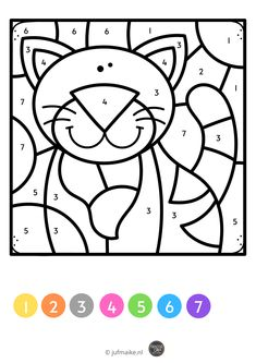 Frame Border Design, Numbers Preschool, Teaching Letters, Color By Numbers, School Lessons, Classroom Activities, Kids Playing, Coloring Pages, Origami