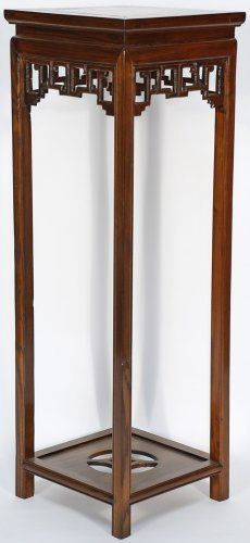 Asian Furniture: Asian-Inspired Tall Plant Vase Stand from China Woodworking Organization, Intarsia Woodworking, Woodworking For Kids, Woodworking Workbench, Woodworking Projects, Workbench Plans, Woodworking Classes, Woodworking Videos, Asian Furniture