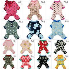 Fitwarm Fleece Winter Pajamas Dog Clothes Warm Pet Jumpsuit Puppy Coat XS S M L #Fitwarm #DogPjsDogShirtDogJumpsuitDogCostumes