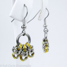 Yellow Chainmaille Jewelry by fullcirclechains