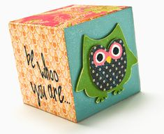 Decoupage - Be WHOO you are wood block