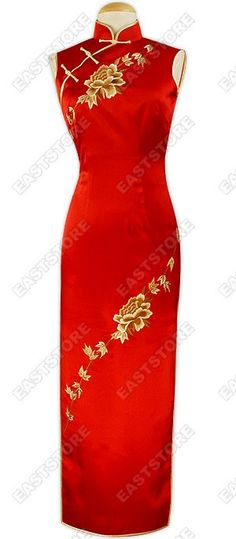 Simply Elegant and Feminine. This particular cheongsam boasts a truly beautiful embroidery of...