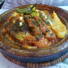 Fish Tagine for lunch at the Souk in Agadir Fish Tagine, King Crab Legs, Lobster Tails, Agadir, Fresh Seafood, Crab Meat, Fried Fish, Oysters, Curry