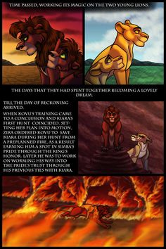 | The Lost Days of Kovu and Kiara page 57 | << First < Previous | Next > -------------------------------------------------------------- And now we're caught up with the events in the mo... Lion King 4, Cute Wolf Drawings, Lion King Story, Lions, Two By Two, Deviantart, Movie Posters, Fictional Characters, King Art