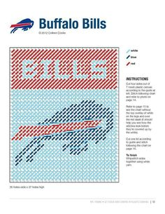 BUFFALO BILLS TISSUE BOX COVER by COLLEEN COOKE 2/2