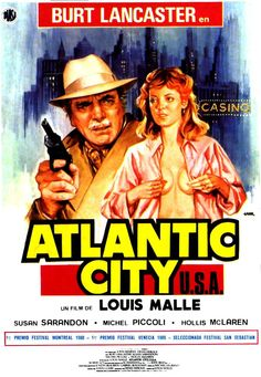 Against the backdrop of decay and renewal in 1970s Atlantic City, French director Louis Malle presents a story of redemption and triumph. The film stars Burt Lancaster as Lou Pasco, a small-time mobster past his prime who dreams of becoming a powerful and respected criminal. Susan Sarandon plays Sallie Matthews, anxious to pursue her future as an aspiring croupier, who dreams of a better life in Monte Carlo...