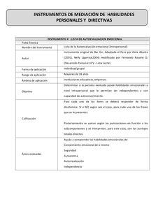 Lista de autoevaluación emocional by Fernando  Rosario via slideshare