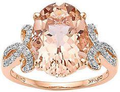 #morganite #ovalshaped #diamondrings #rosegoldrings