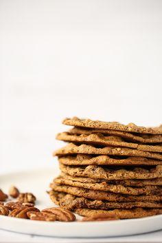 Thin and Chewy Pecan Cookies (Vegan, Gluten-Free)
