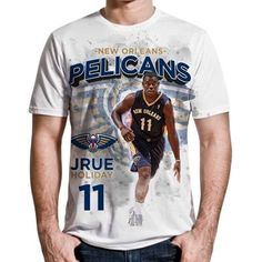 Levelwear Jrue Holiday New Orleans Pelicans Center Court Performance T-Shirt  - White 3729a10d4