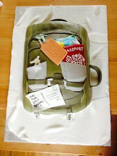 Traveller / backpackers rucksack novelty cake