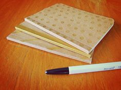 3 Handpainted Notebooks Set Pocket Journals Perfect by SlimNote, $15.00