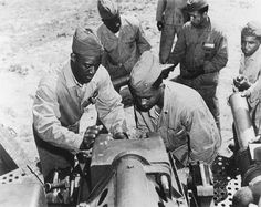 Members of the 51st Defense Battalion, the first Black combat unit of WWII, at Montford Point, Camp LeJeune, NC.  The 51st Defense Battalion was considered an experiment, as African American soldiers were considered inferior at the time. The 51st Defense Battalion shattered all false beliefs and surpassed expectations.  Montford Point Marines received a Congressional Medal of Honor in 2012.