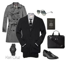 """Impeccable Taste"" by keri-cruz ❤ liked on Polyvore featuring Burberry, Kenneth Cole, Jack Spade, Ray-Ban and Smythson"