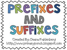 Great activities to teach and learn prefixes and suffixes!
