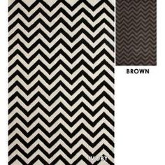 Hand-tufted Alexa Spectrum Chevron Wool Rug (5' x 8')
