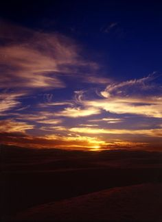 Sahara Desert, Africa at dusk    imagine the darkness, though the stars..