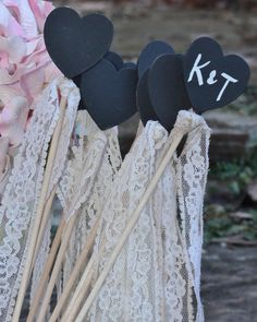 Chalkboard Table Numbers Wedding Wands Table by MichelesCottage, $40.00