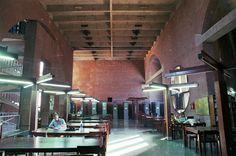 ahmedabad - IIM (original) 17 - library interior   by Doctor Casino