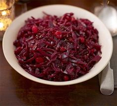 Red cabbage with balsamic vinegar & cranberries http://www.bbcgoodfood.com/recipes/1827640/red-cabbage-with-balsamic-vinegar-and-cranberries#