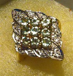 Catawiki Online-Auktionshaus: Demantoid Cocktail Ring - 1,70 ct, 375er Gelbgold Cocktail Rings, Cuff Bracelets, Cocktails, Jewelry, Rhinestones, Yellow, Ring, Schmuck, Craft Cocktails