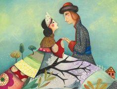 pareja abrazada con amor con las manos